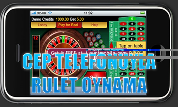 cep telefonuyla rulet oynama, Cep telefonuyla rulet nasıl oynanır, Cep telefonundan rulet oynamak
